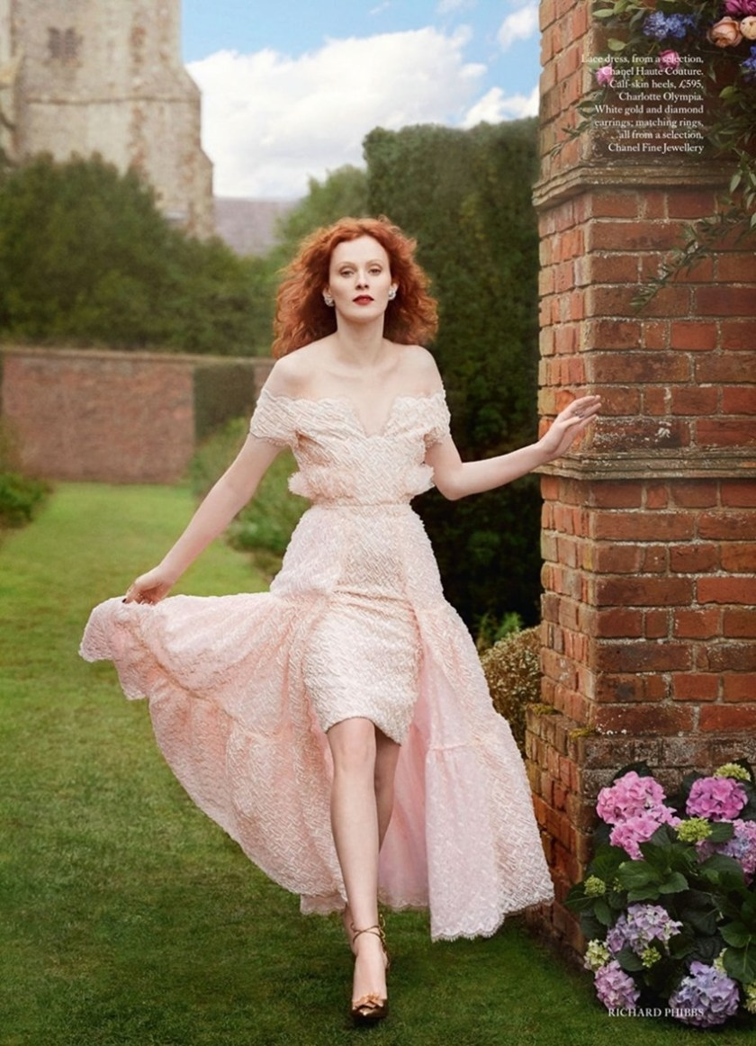 HARPER'S BAZAAR UK Karen Elson by Richard Phibbs. Miranda Almond, June 2017, www.imageamplified.comm, image Amplified3