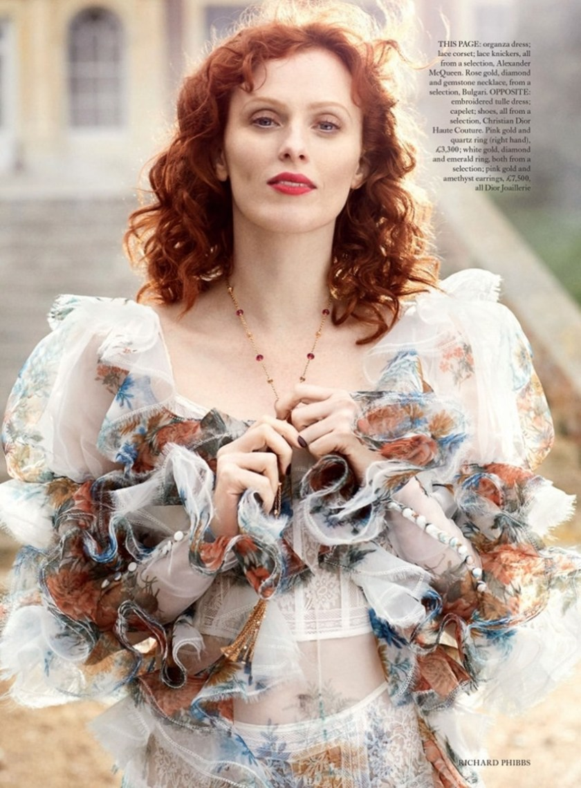 HARPER'S BAZAAR UK Karen Elson by Richard Phibbs. Miranda Almond, June 2017, www.imageamplified.comm, image Amplified5