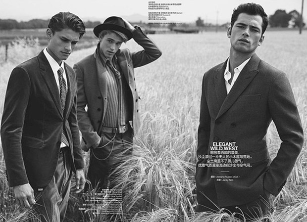 GQ JAPAN Sean O'Pry, Michael Gioia & Thyme Stidworthy by Adriano Russo. Jacky Tam, Fall 2017, www.imageamplified.com, Image Amplified1