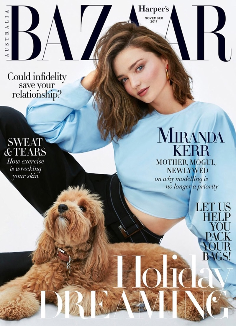 HARPER'S BAZAAR AUSTRALIA Miranda Kerr by Nino Munoz. Naomi Smith, November 2017, www.imageamplified.com, Image Amplified1
