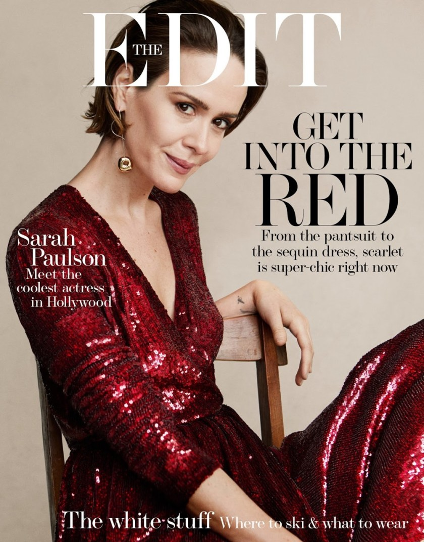 THE EDIT Sarah Paulson by Victor Demarchelier. Charles Varenne, December 2017, www.imageamplified.com, Image Amplified9