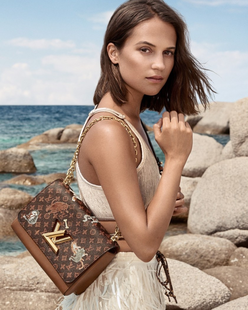 21934ce3df70 CAMPAIGN Alicia Vikander for Louis Vuitton Cruise 2019 by Craig McDean.  www.imageamplified.