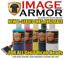 New R-SERIES Inks Available for Ricoh Based Gen 4 Printhead DTG Printers