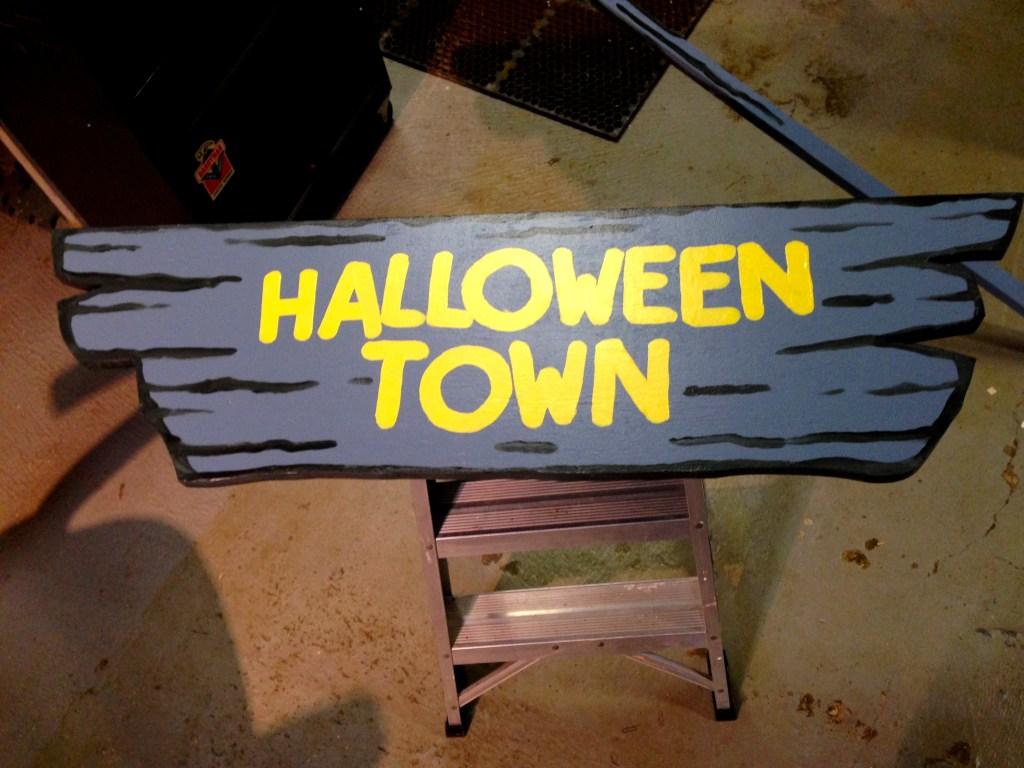 Halloween Town Sign