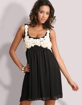 ASOS Chiffon Corsage Babydoll Dress