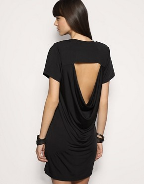 Staple Cowl Back Slinky Jersey Dress