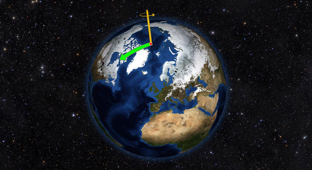 Earth does not always spin on an axis running through its poles.