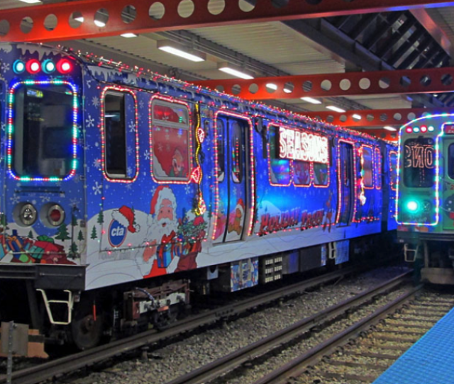 The Chicago Transit Authority Is Making The City A Whole Lot More Festive With Its Annual Holiday Train And Bus These Trains And Buses Are Decked Out In