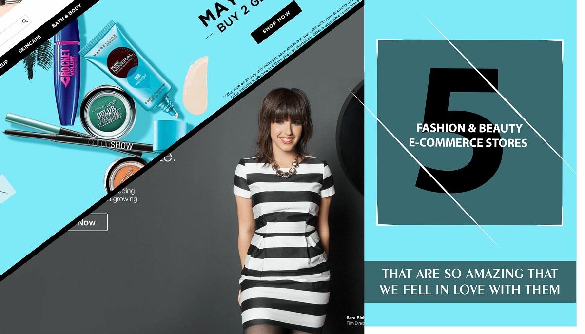 5 Amazing fashion & beauty eCommerce store we absolutely love