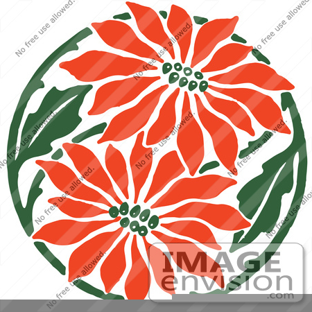 poinsettia black and white clip art 61385 clipart of a red