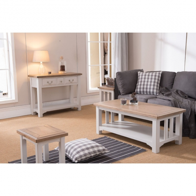Balm Grey Painted Oak Furniture Large Living Dining Room