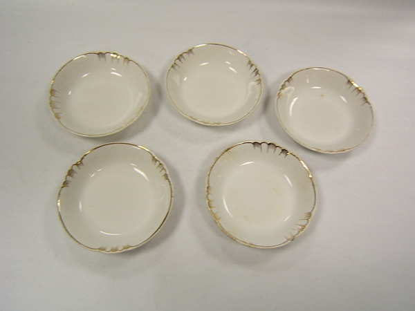 Johnson Brothers England China 5 Fruit Bowls Gold Edge EBay