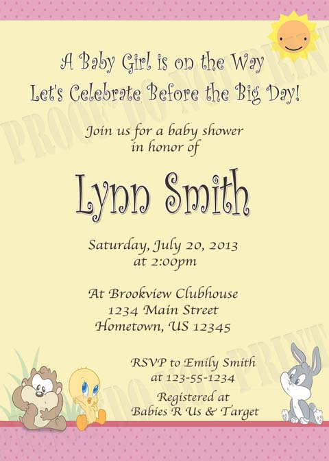 Personalized Printable Invitations Cmartistry Baby
