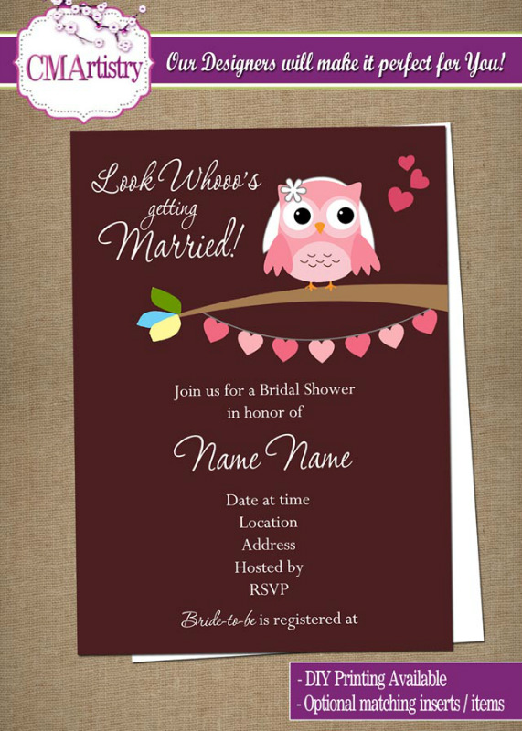 Diy Owl Wedding Invitations Invitation Ideas