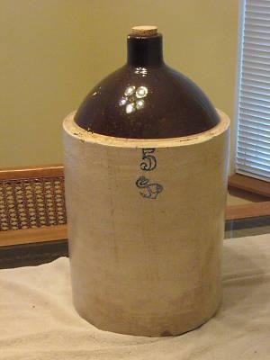 Anthony1947 5 Gallon Stoneware Crock Jug With Blue 5