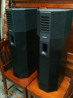 Bose 701 Mint Left Amp Right Speakers Black 400w 80 Hms