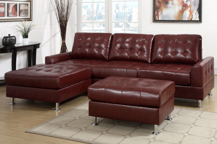 modern classic burgundy red tufted