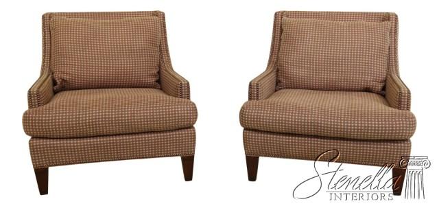 48990EC: Pair SHERRILL Modern Design Upholstered Living ...