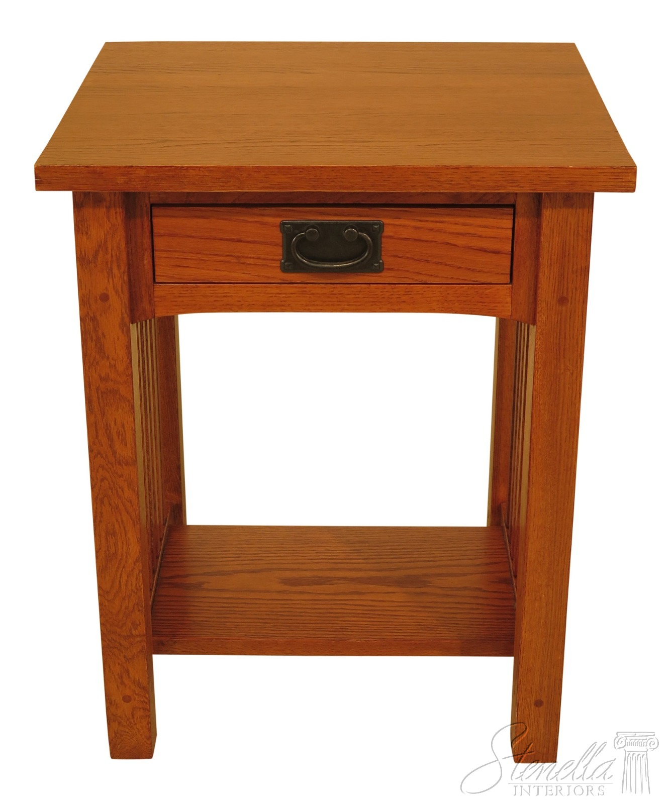 Details About 46306ec Mission Oak Style Arts Crafts 1 Drawer Nightstand
