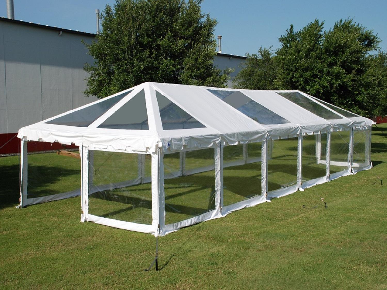 PVC ComBi Party Tent 60 X 20 Clear Heavy Duty Wedding