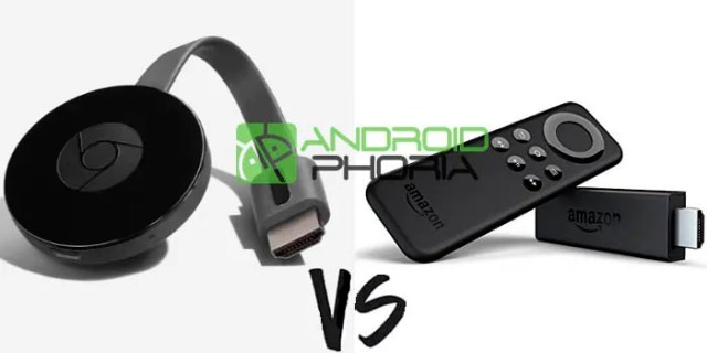 Comparativa Chromecast℗ vs Amazon℗ Fire TV Stick