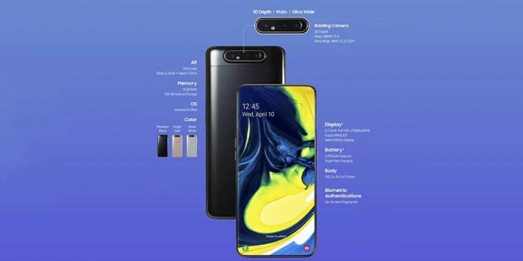 Galaxy A80 especificaciones