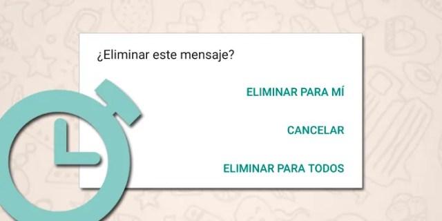 WhatsApp truco borrar mensajes despues siete minutos