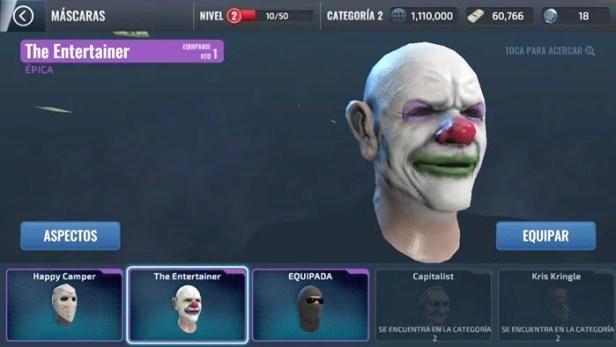 máscaras armadas do heist