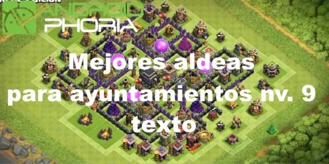 base clash of clans municipio 9