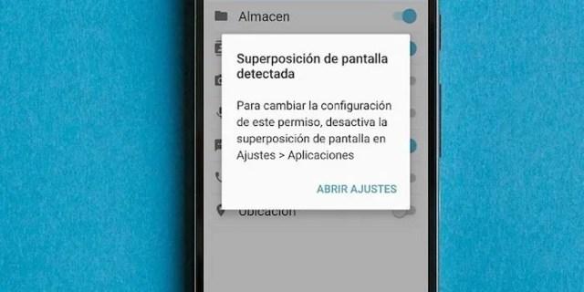 desactivar superposicion pantalla