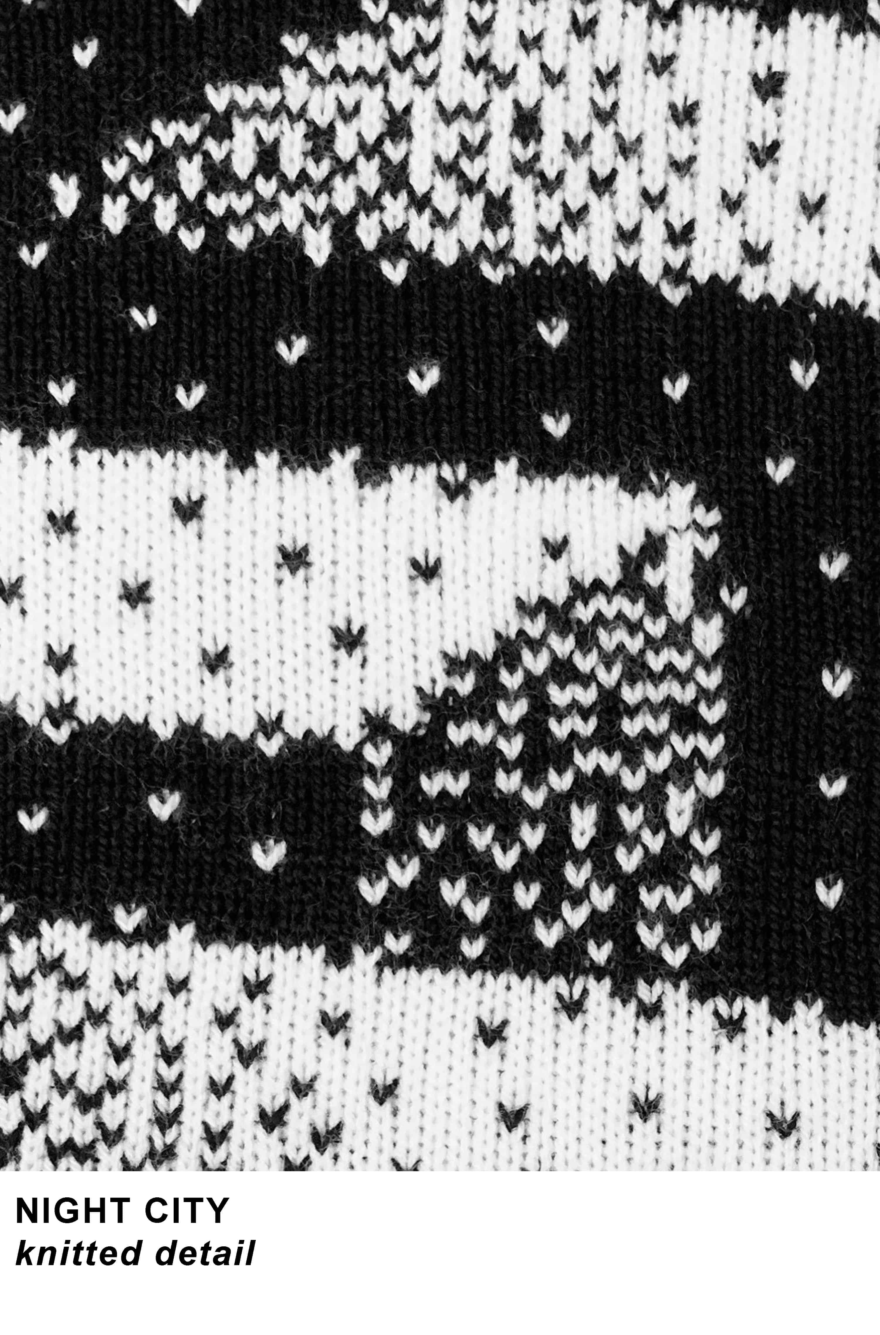 NIGHT CITY detail knitted portfolio