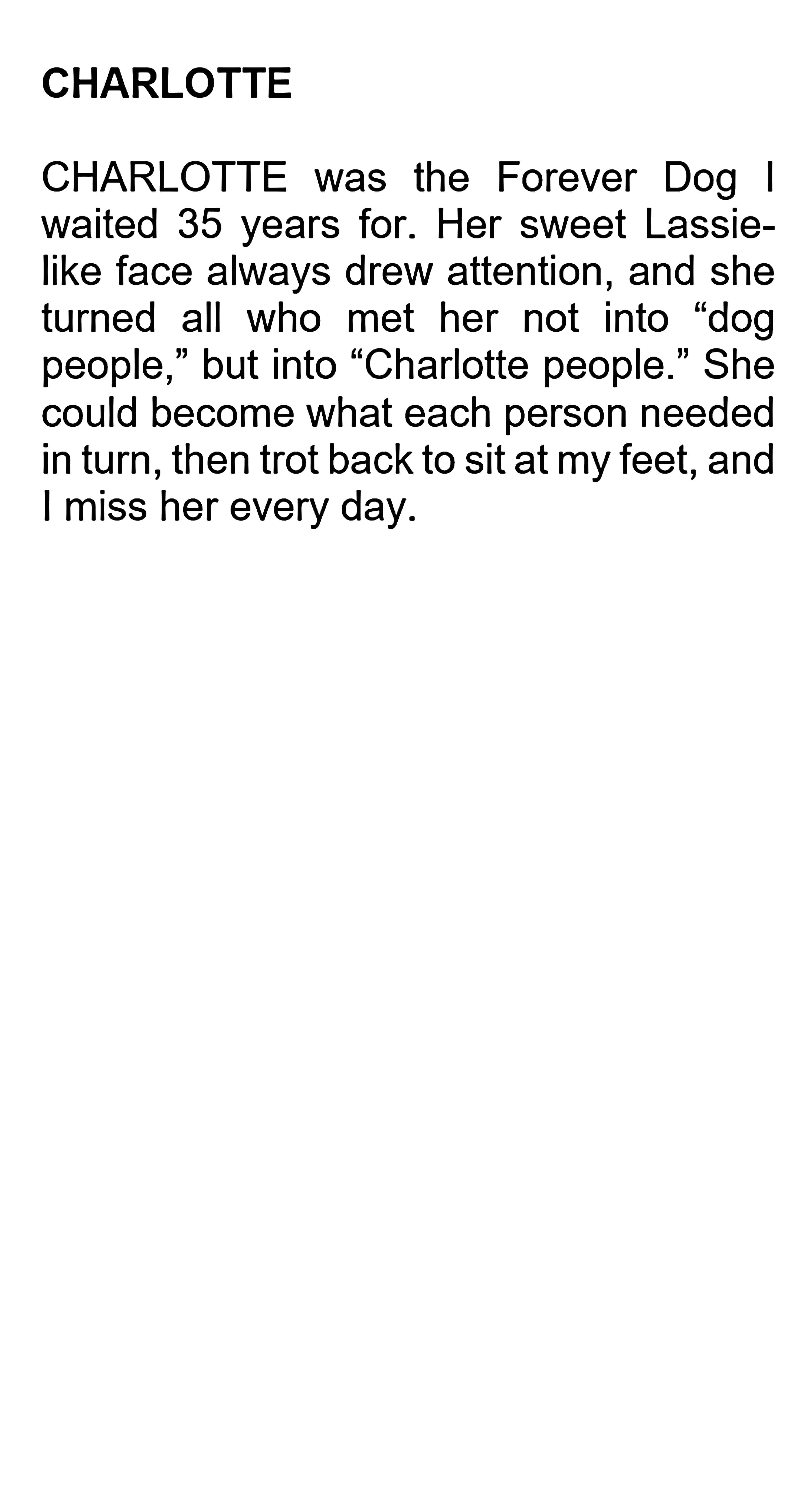 CHARLOTTE TEXT