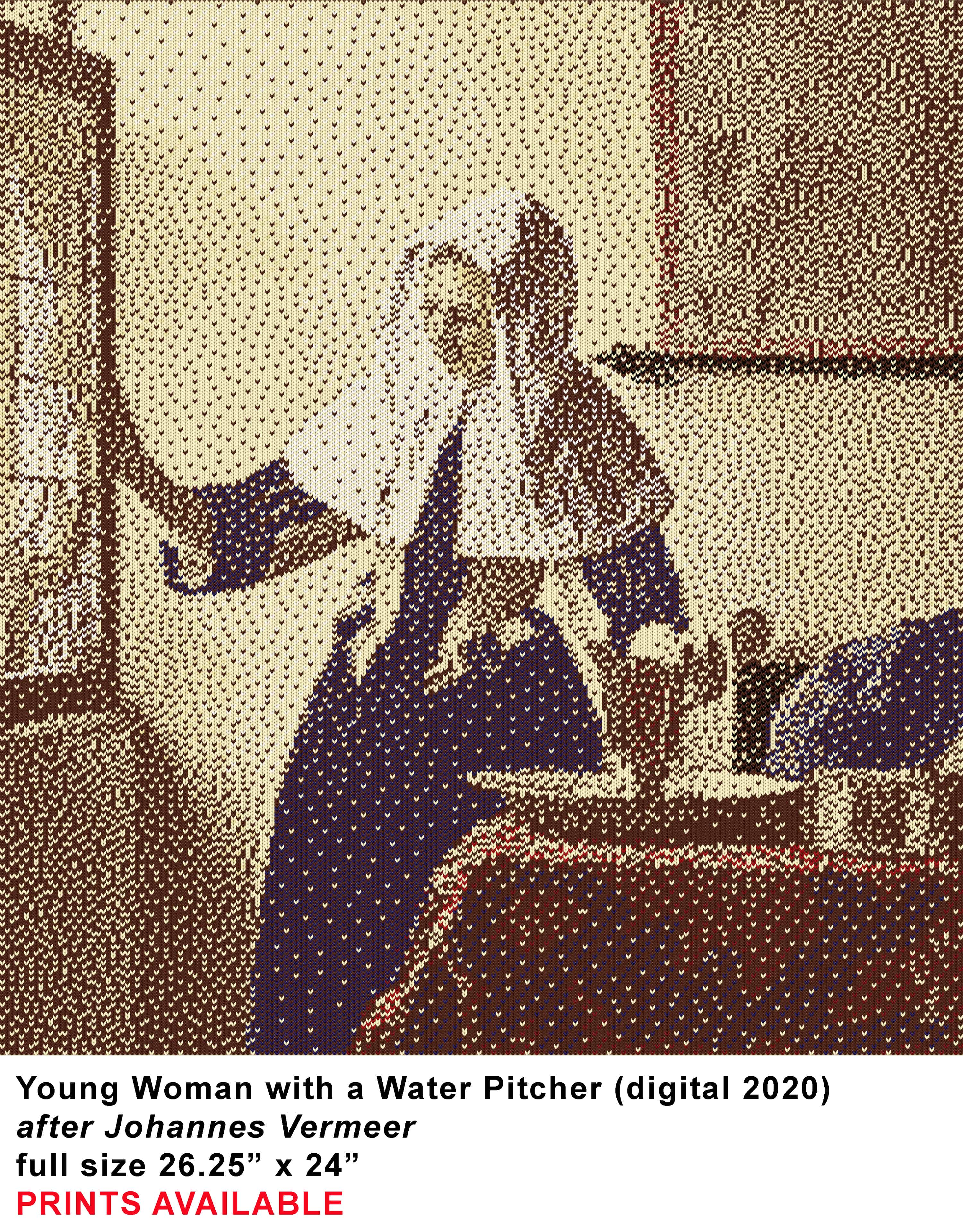 VERMEER young woman with a pitcher