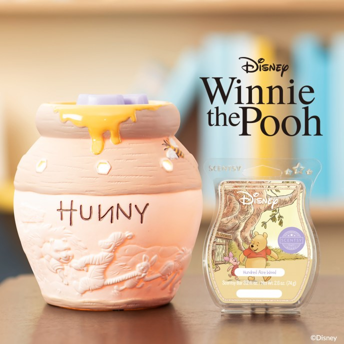 Hunny Pot – Scentsy Warmer and Hundred Acre Wood – Scentsy Bar