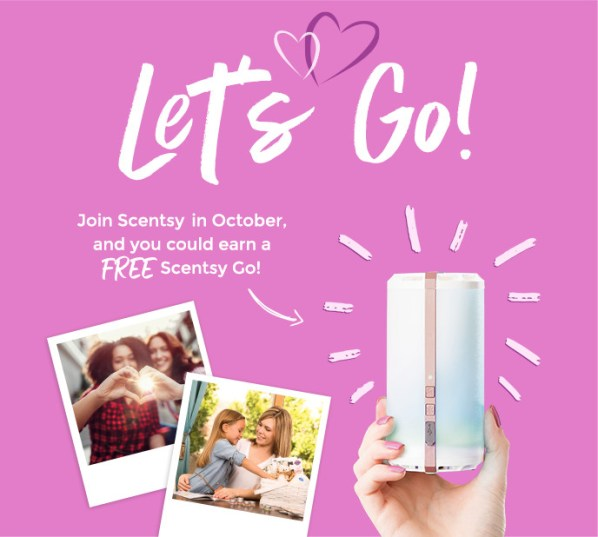 Free Scentsy Go Join October