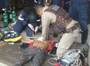 Conquista: Idoso sofre parada cardíaca e é salvo por massagem de policial