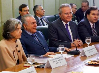 Renan diz ter 'orgulho' de presidir Congresso com Cármen Lúcia no comando do STF