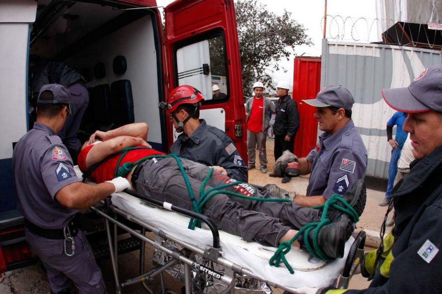 Vítima foi socorrida ao Pronto Socorra da Santa Casa / Angelo/Sigmapress/Folhapress