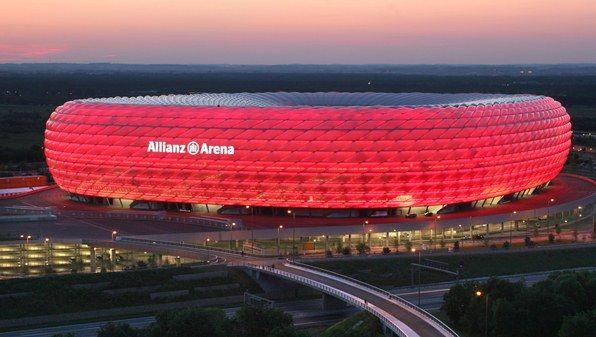 Allianz Arena, palco de grandes jogos na Alemanha /