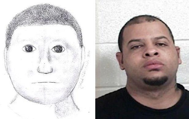 Policial reconheceu o suspeito com ajuda do retrato falado / Divulgação/Lamar County Sheriff´s Department