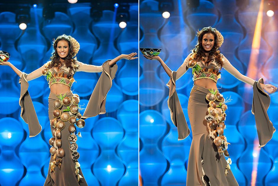Miss Pará, Larissa Oliveira, representa o açaí fruto cultivado no Estado e que é fonte de energia