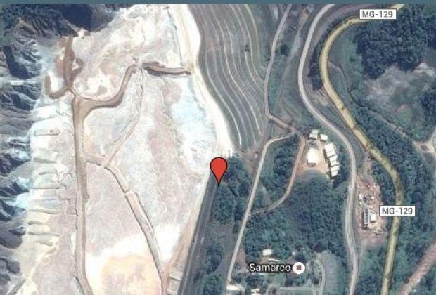 Acidente foi na barragem de Fundão, no distrito de Bento Rodrigues / Google Maps