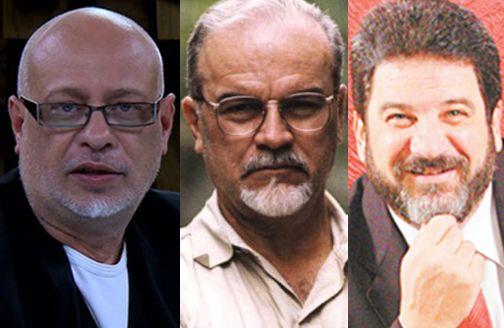 Na foto, três pensadores de nosso tempo. Luiz Felipe Pondé, Roberto DaMatta Mário Sergio Cortella /