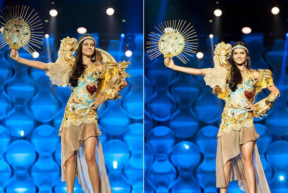 Miss Bahia, Anne Lima, roupa inspirada nas igrejas barrocas localizadas nos centros históricos de Salvador, assim como a Senhor do Bonfim