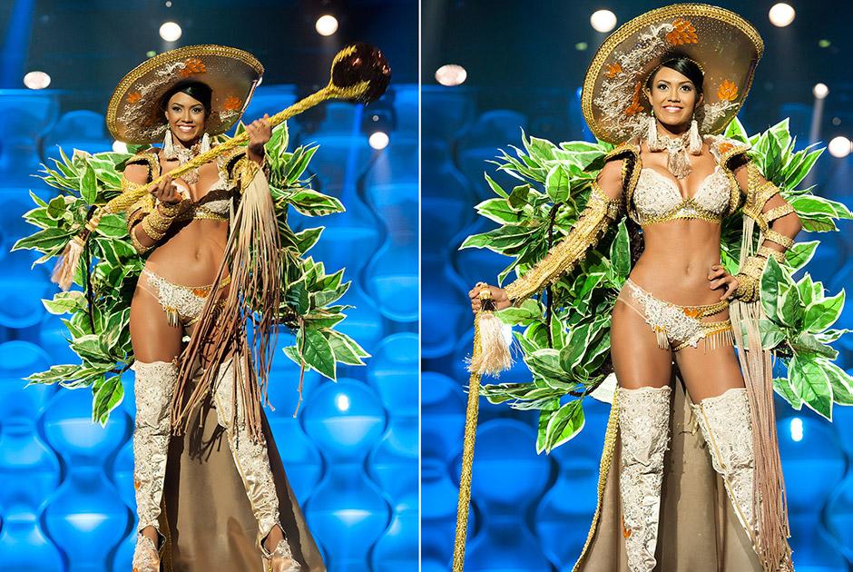 Miss Amapá, Priscila Winny, retrata os trajes usados pelos extrativistas da floresta amazônica na colheita do ouriço da Castanha do Brasil