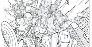Avengers Animados Para Colorear
