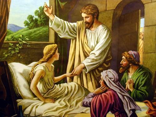 Resultado de imagen de jesus resucitando la niña