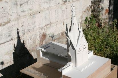 Maqueta de la capilla elaborada por el arquitecto chileno Christian Matzner.