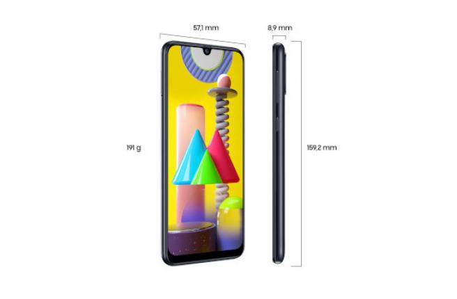 Las dimensiones del Samsung Galaxy M31