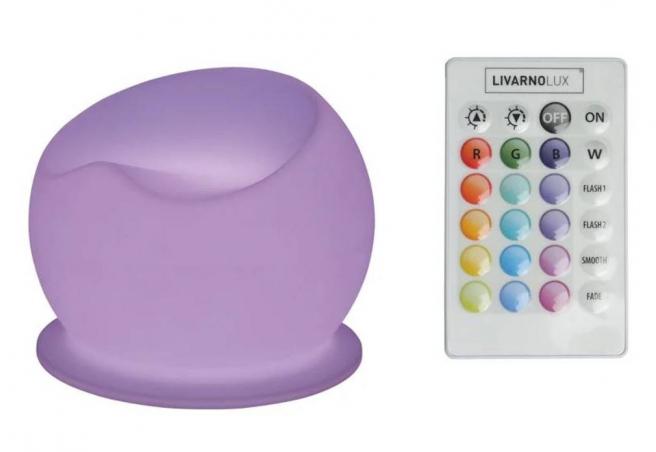 El sillón con luz LED de Lidl incluye un mando a distancia.